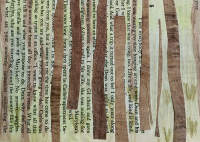 On, On the Road, The Trees. One of the pages.